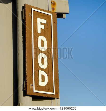 Wooden Food Sign