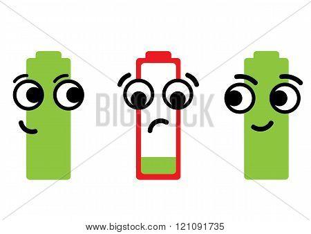 Empty dissatisfied battery
