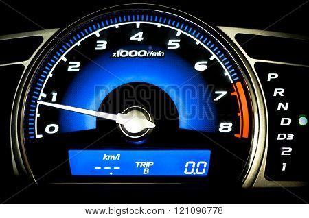 Modern Car Speedometer