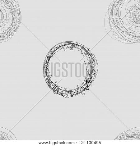 Scribble Circles Seamless Pattern