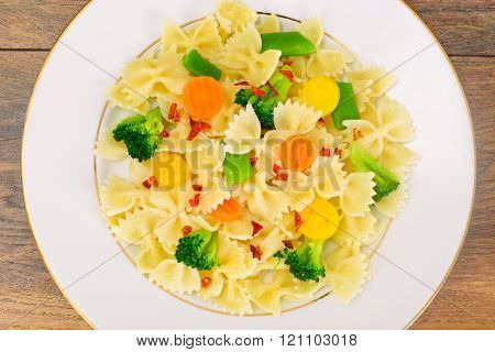 Farfalle Pasta, Sausage and Broccoli Diet Food