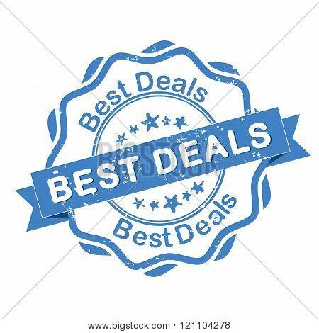 Best Deals - blue grunge label