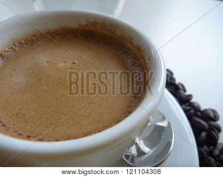 Cup Of Fresh Tasty Coffee