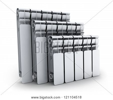 Three Radiators On White Background