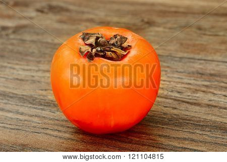 Healthy, diet: sweet and ripe Persimmon.