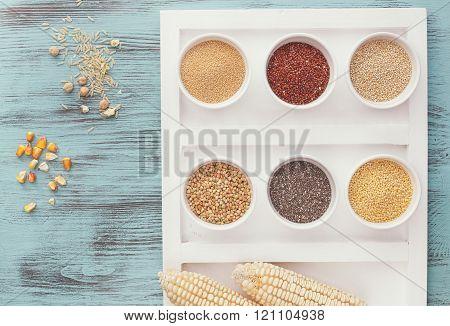Assortment of whole grains