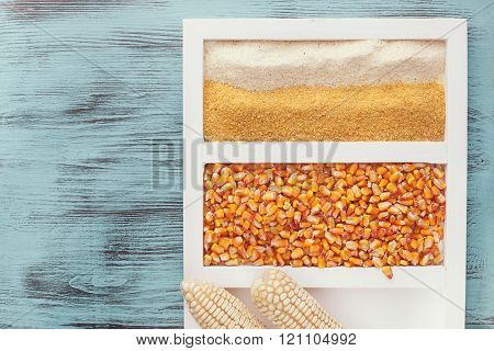 Assortment of corn