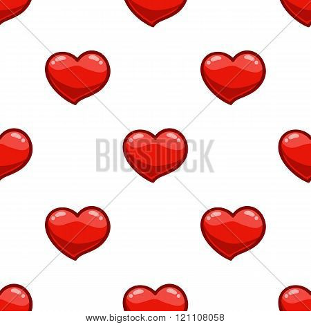 Seamless Pattern With Cartoon Heart