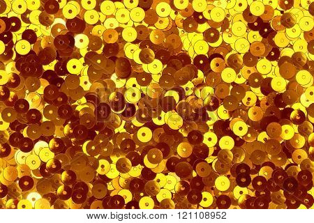 gold shiny sequins background