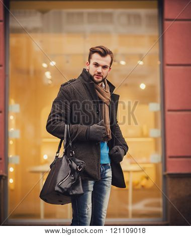 Portrait Of Macho In Coat