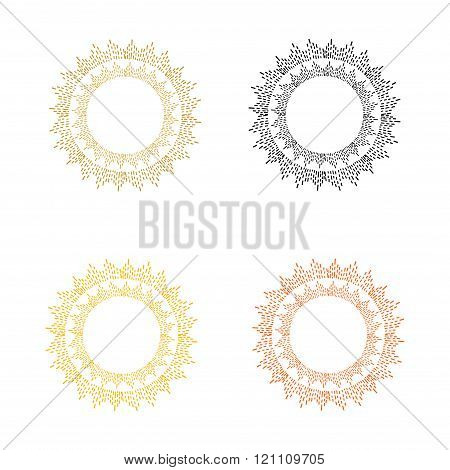Set of colorful round frames.
