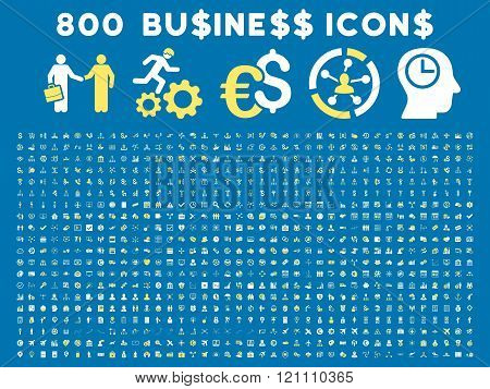 800 Flat Vector Business Icon Collection