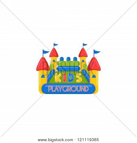 Kids Inflatable Castle Playground Logo