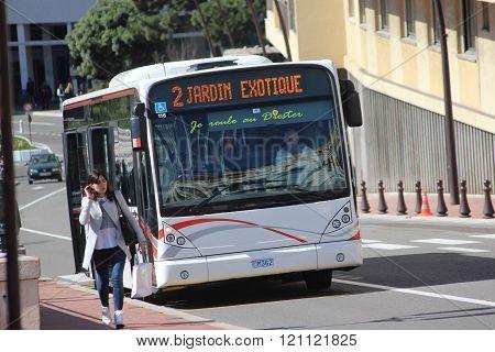 Modern City Bus Van Hool A330 In Monaco