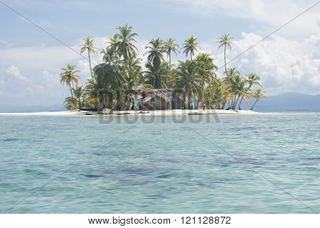 paradisiacal beaches on the Island of San Blas , Kuna Yala. Panama. ** Note: Soft Focus at 100%, best at smaller sizes