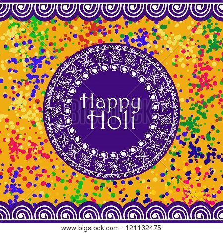 Vector Background Or Banner For Holi Festival. Happy Holi. Design For Celebration
