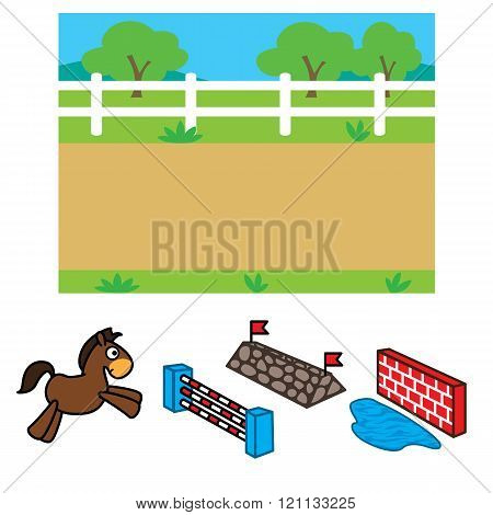 Racecourse Background For Animation