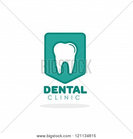 Tooth vector logo for dental clinic