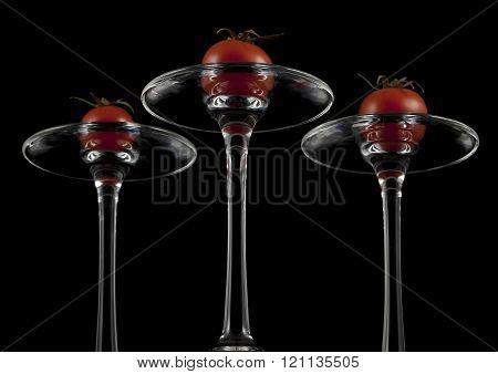 Red cherry tomatoes.