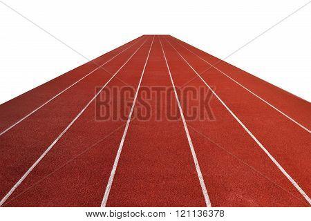 Running Track Athletics Isolate On White Background