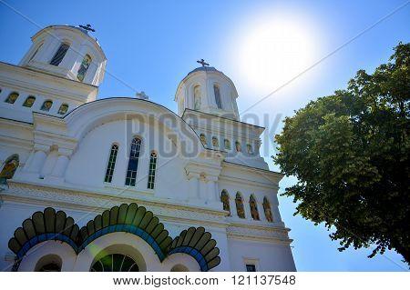 Exterior Church With Blue Sky