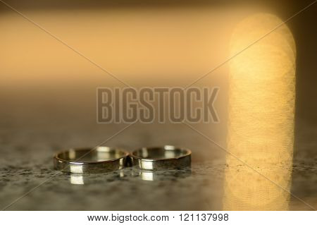 Wedding Ring With Shaped Bokeh