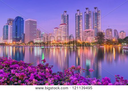 Night Cities Of Bangkok Thailand.