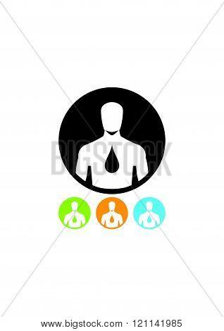 Human body hydration icon