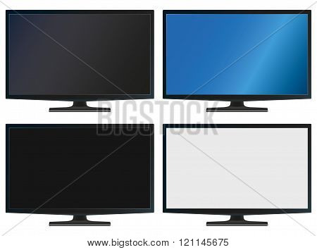 Illustration Graphic Vector Flatscreen With Copyspace