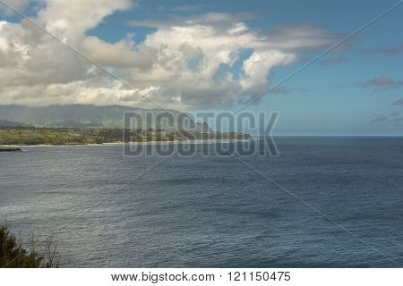 Kilauea Bay coast, Kauai, Hawaii