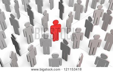 Forum (symbolic Figures Of People)