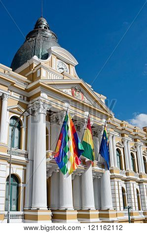 Bolivian Palace of Government (Palacio Quemado) in La Paz Bolivia poster