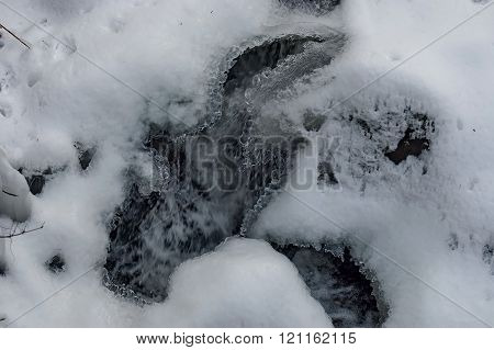 Frozen ice shape