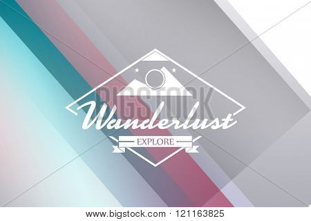 Wanderlust word against colored background