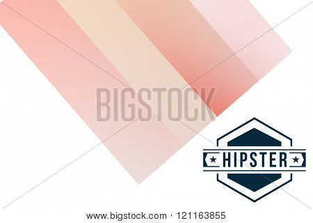 Hipster logo against colored background
