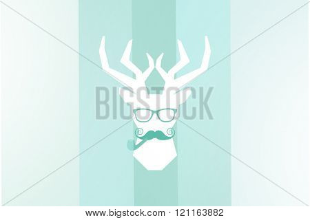 Moustache face against colored background