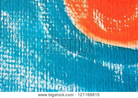 Blue and Orange Circle Design 1