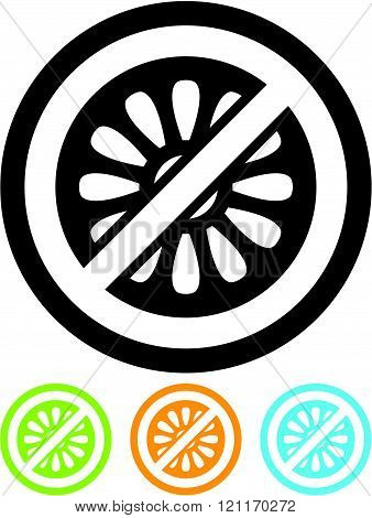 No to flower power - Vector icon isolated