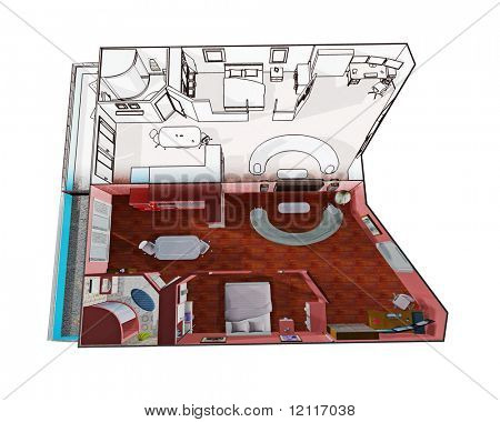 apartment design drawing