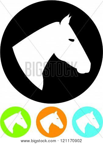 Horse head - Vector icon isolated on white