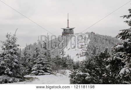 Beskydy mountains in winter