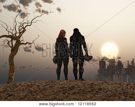 post Apocalypse couple