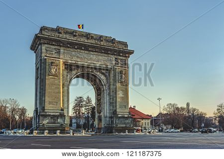 Triumphal Archm Bucharest, Romania