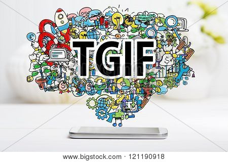 Tgif Concept With Smartphone