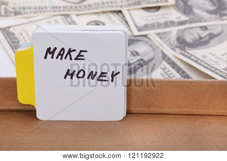 Text - Make Money. Business Concept.