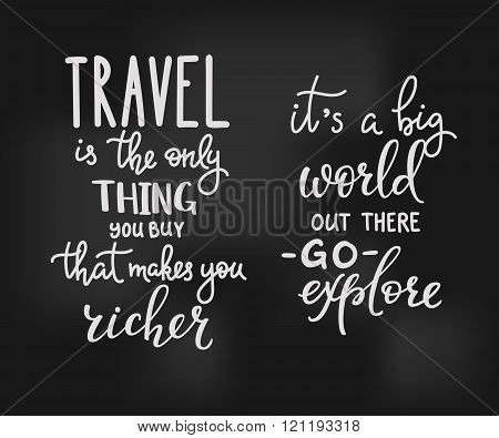Travel Inspiration Quotes Lettering