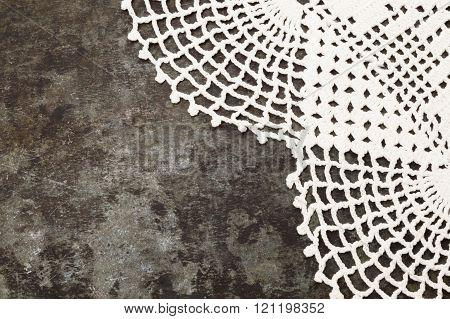 Granny Crochet Old Sheet Metal Background