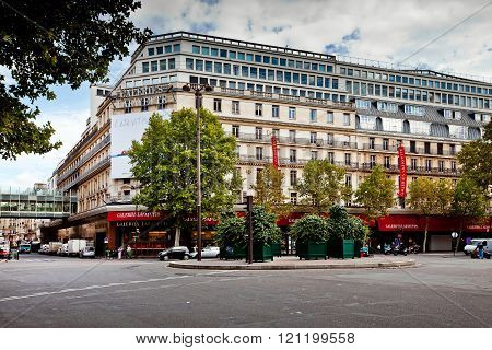 Famous Galeries Lafayette in Paris, France