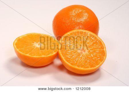 Close Up Of Sliced Clementine Orange Fruit