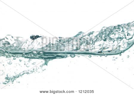 photo of close-up of water on white background poster
